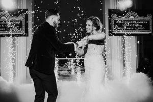 Bride & Groom Cold Sparklers Cloud First Dance